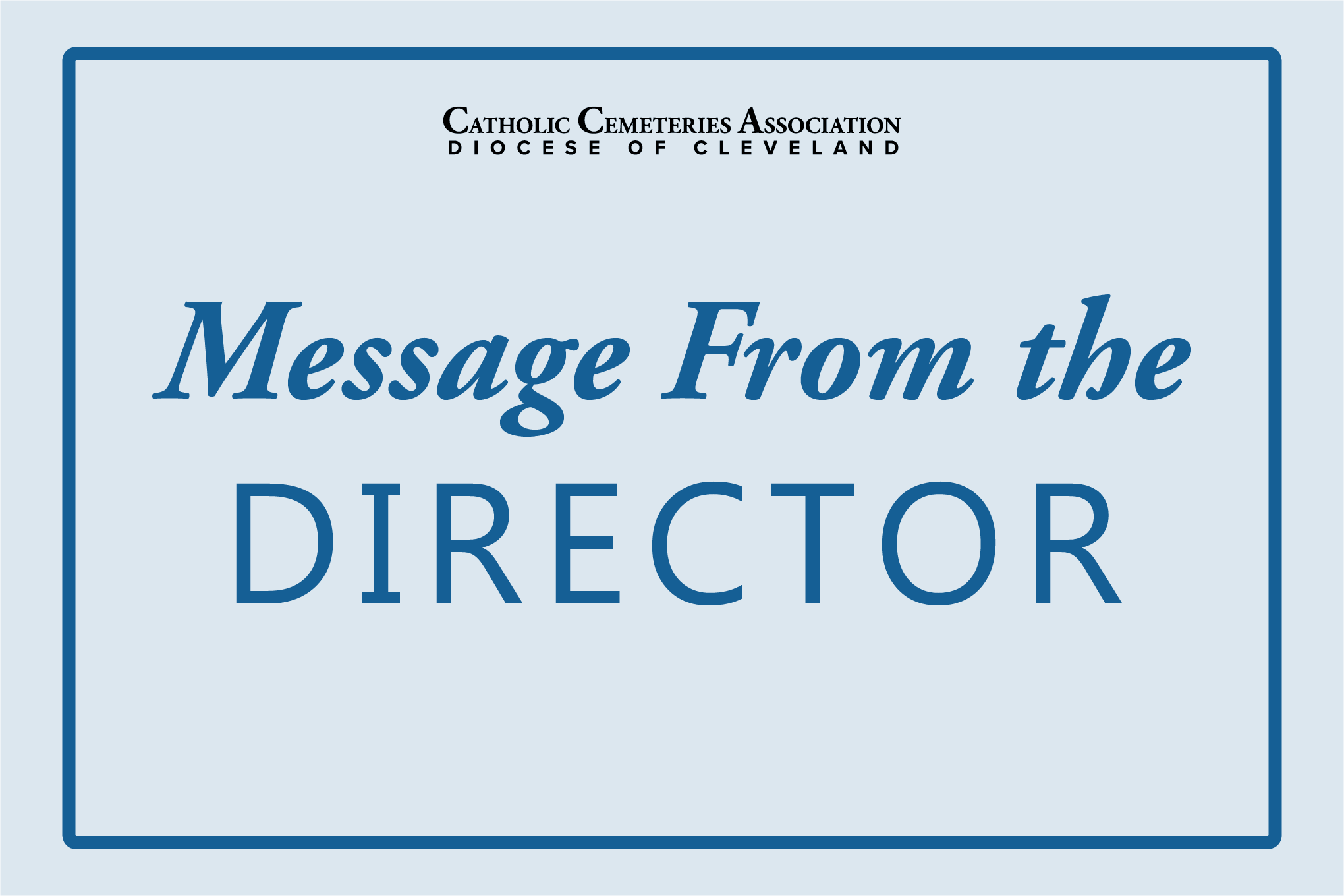 Message from director image header